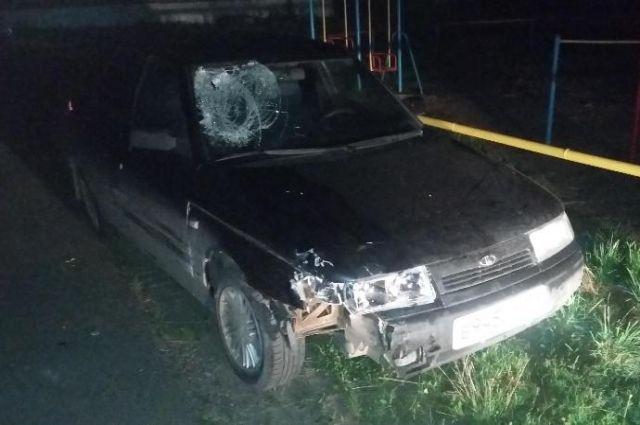 Водитель попытался сбежать, но его задержали.