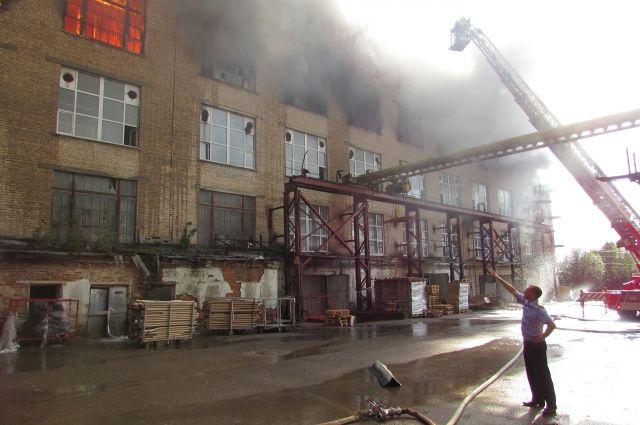 Пофакту пожара нафабрике вСмоленске возбуждено уголовное дело