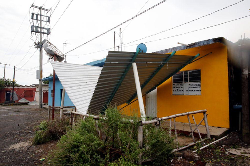 Разрушенные дома в Вега де Алаторе штата Веракрус.