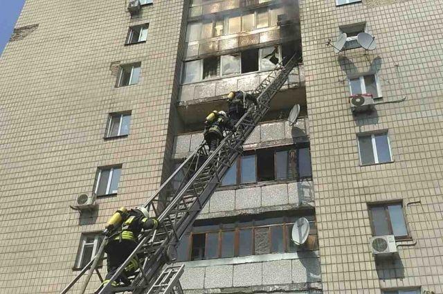 Пожар возник на 7-мом этаже