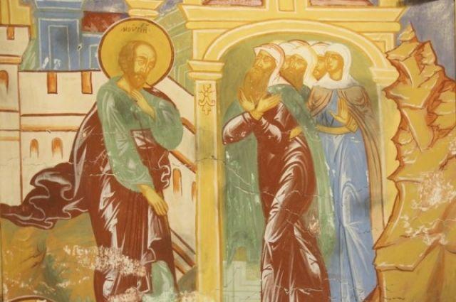 Археологи обнаружили вНовгороде несколько десятков квадратных метров фресок XII