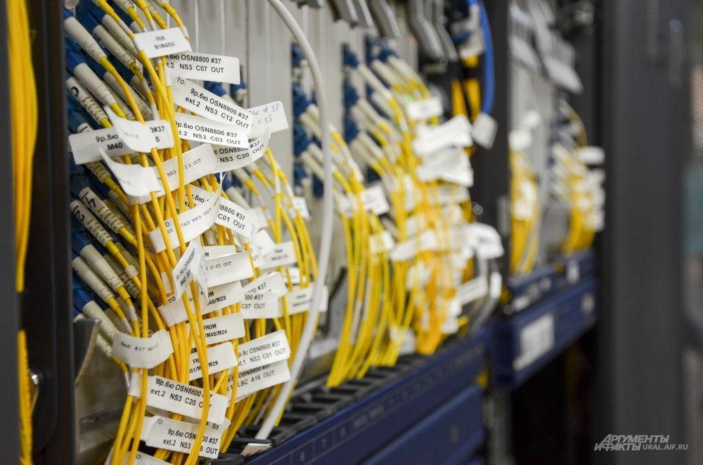 Оборудование позволяет по одному волокну использовать 40 оптических каналов.