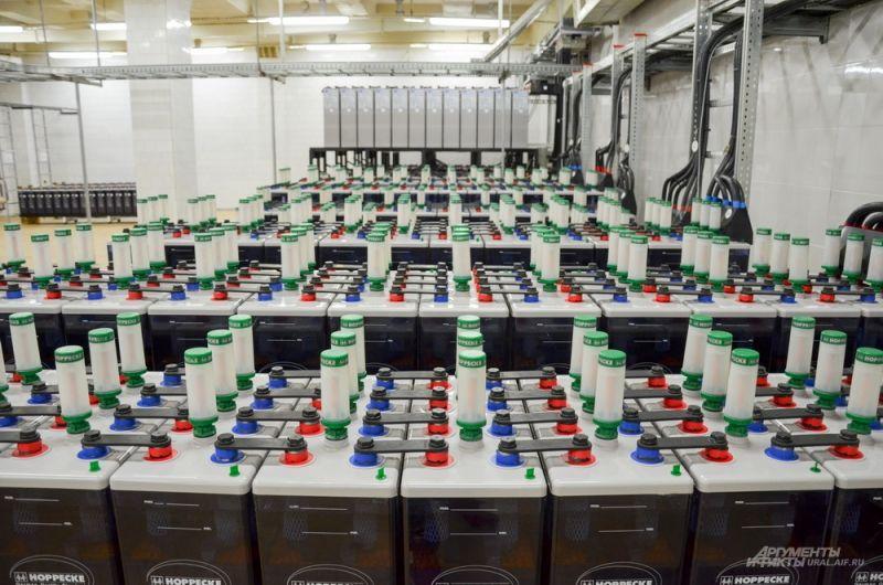 На случай аварийного отключения энергии начнут работать аккумуляторы.