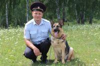 На службу в голышмановскую полицию заступила немецкая овчарка Харди