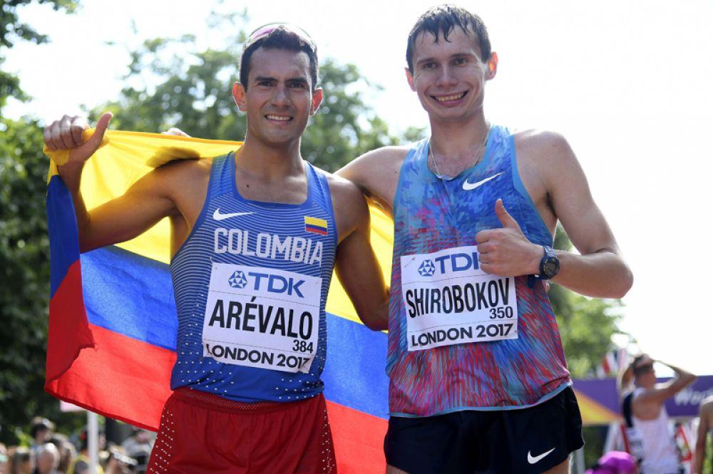 Россиянин Сергей Широбоков занял второе место в спортивной ходьбе на 20 километров.