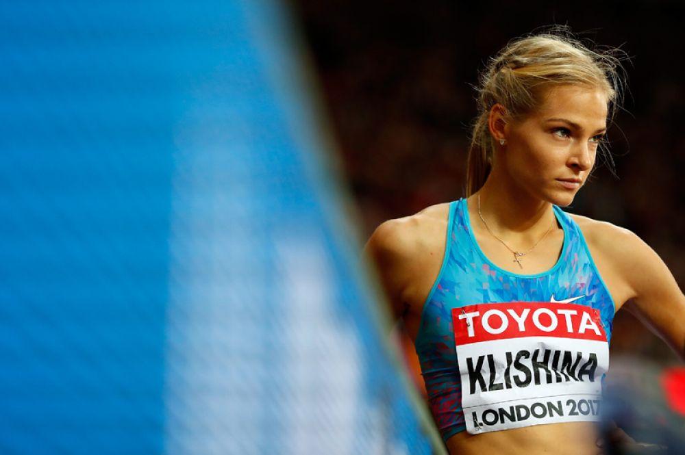 Российская спортсменка Дарья Клишина выиграла серебро в прыжках в длину.