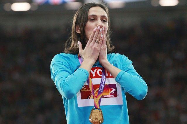 Мария Ласицкене, завоевавшая золотую медаль наЧМ-2017 полёгкой атлетике вЛондоне.