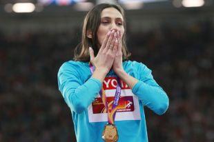 Мария Ласицкене, завоевавшая золотую награда наЧМ-2017 полёгкой атлетике вЛондоне.