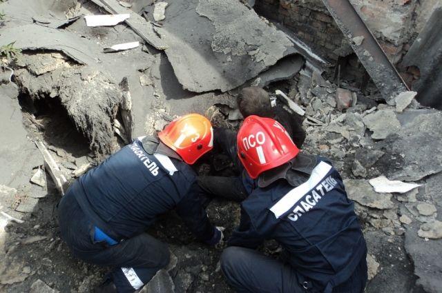 46-летний бомж пострадал при обвале здания вцентре Казани