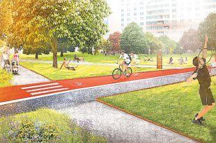 Для велосипедистов во новых дворах проложат дорожки, на владельцев собак оборудуют площадки для того выгула равно игр.