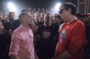 Рэп-баттл посреди Oxxxymiron да Гнойным.