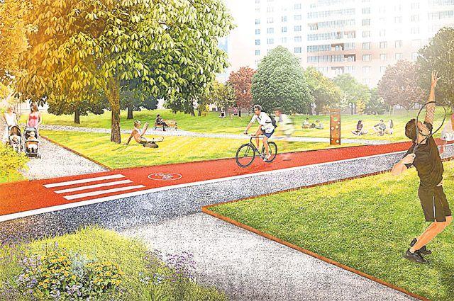 Для велосипедистов в новых дворах проложат дорожки, для владельцев собак оборудуют площадки для выгула и игр.