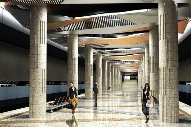 Дизайн-проект станции «Косино» Кожуховской ветки метро.