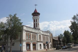 Пожарная каланча - одно из знаковых исторических зданий Сыктывкара.