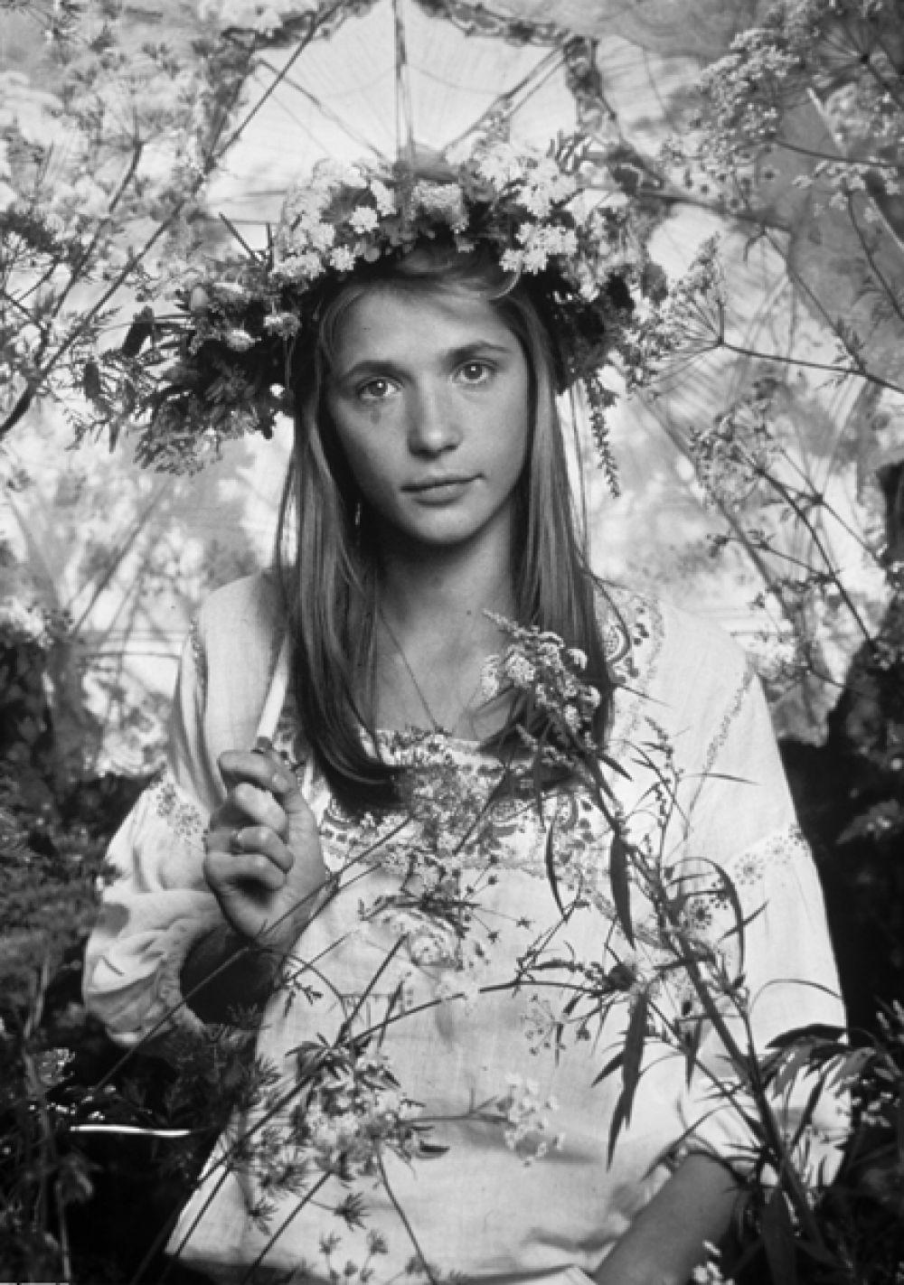 Советская актриса Вера Глаголева. 1985 год.