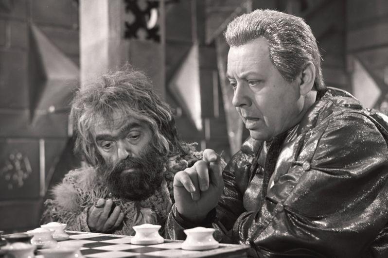 В роли Кащея Бессмертного в фильме «После дождичка в четверг». 1985 год.
