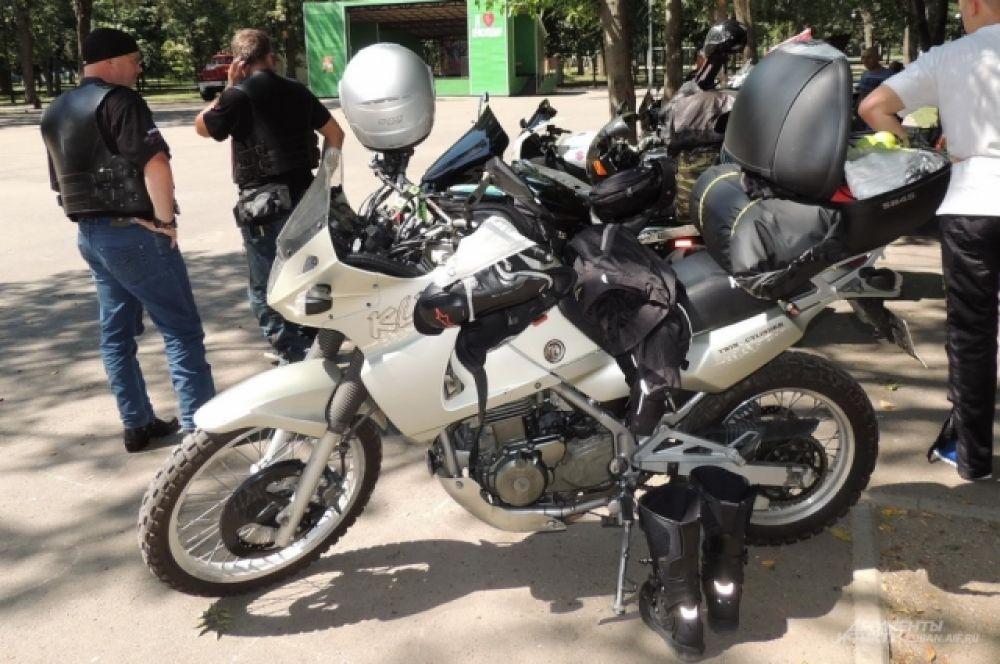 Мотоцикл Kawasaki.
