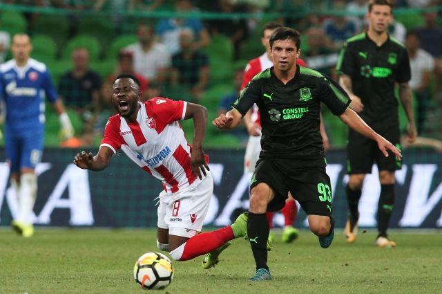 «Краснодар» одержал победу  у«Црвены Звезды» врамках Лиги Европы