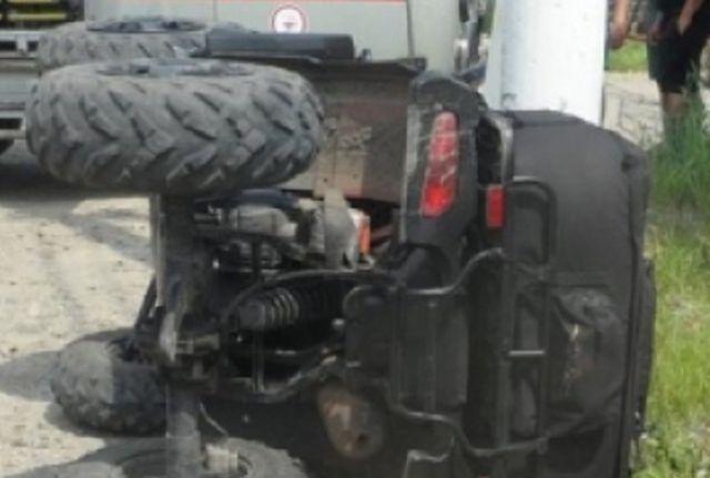 ВПуровском районе умер ребенок, перевернувшись наквадроцикле