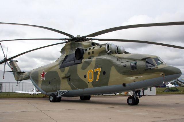 Военный вертолет Ми-26.