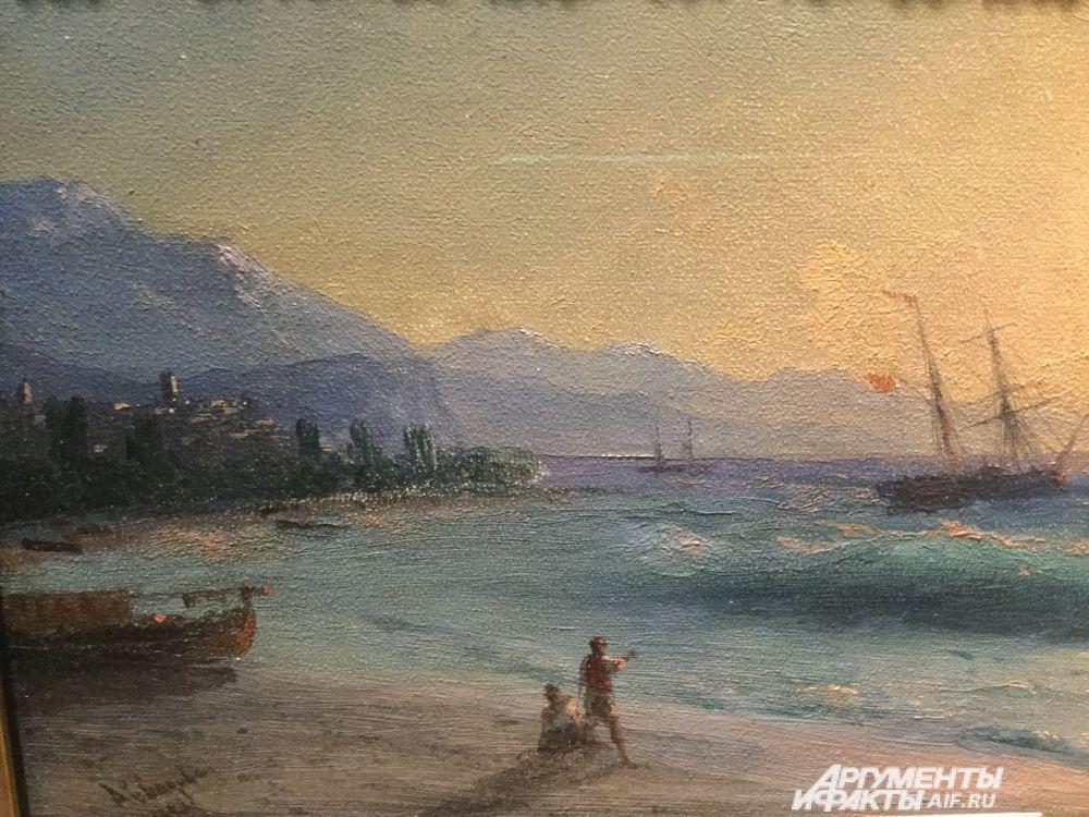 Фрагмент картины «Восход солнца у Алушты» (1893 год).