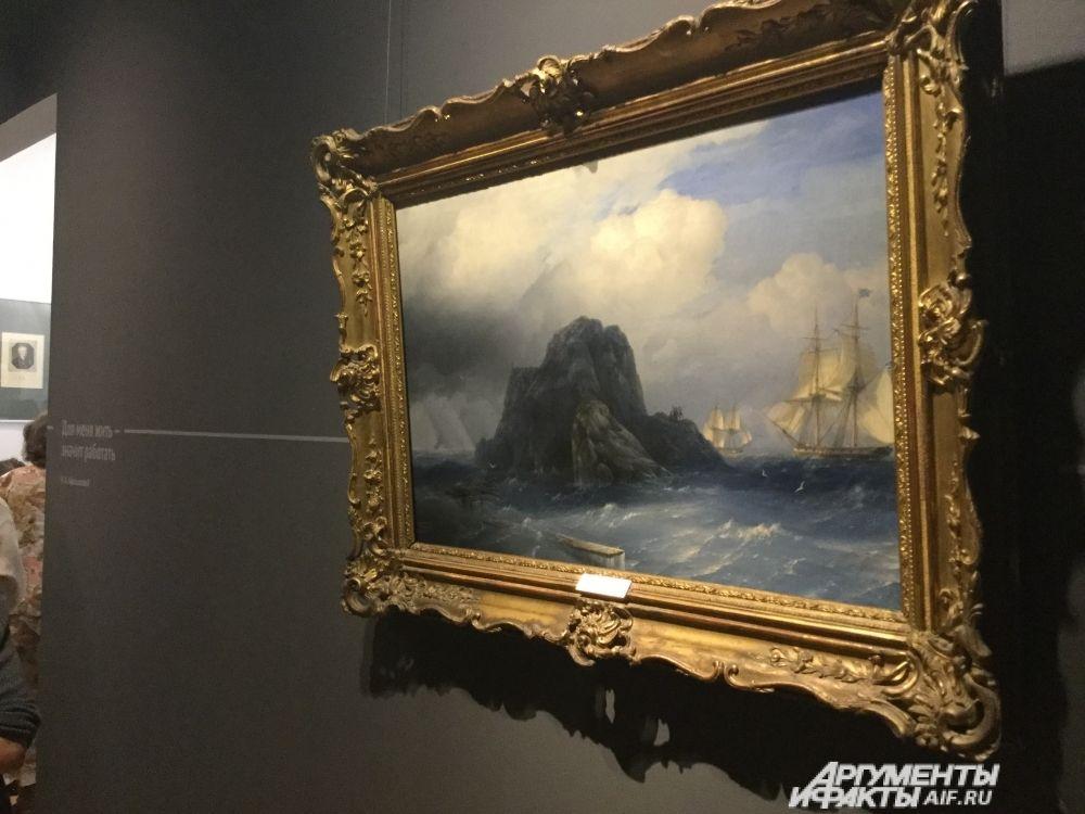 Иван Айвазовский «Скалистый остров» (1855 год).