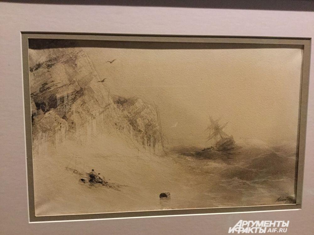 Рисунок «Море», который в коллекцию Пермской галерее передали из собрания Третьяковки.