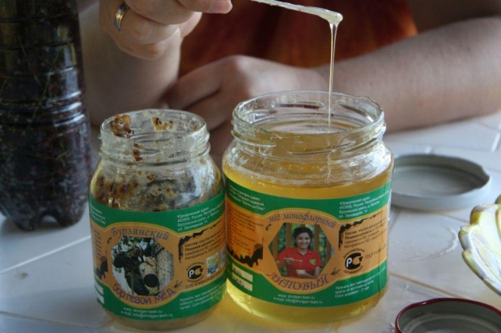 Два бренда Бурзянского района - бортевой мед и липовый мед