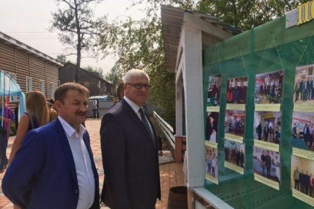 Сергей Брилка на празднике музея в Киренске.
