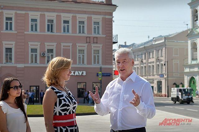 В Москве завершились работы по благоустройству улицы Сретенка