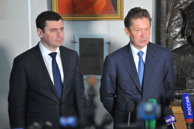 Дмитрий Миронов и Алексей Миллер обсудили перспективы строительства мини-завода СПГ в Большесельском районе.