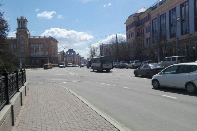 Пока движение в центре города не ограничено.