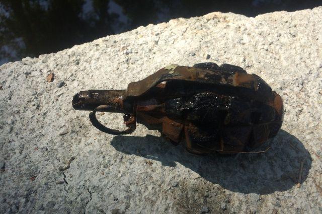 В Орске дети нашли боевую гранату в реке Елшанка.