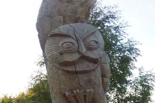 В Горнокнязевске можно посмотреть на создание деревянных скульптур