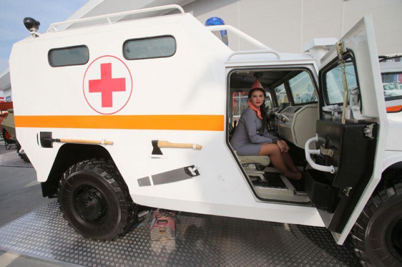 Бронированный медицинский автомобиль «Тигр».