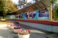 В Кемерове обновили галерею «Шахтерской славы» у ДК Шахтеров.