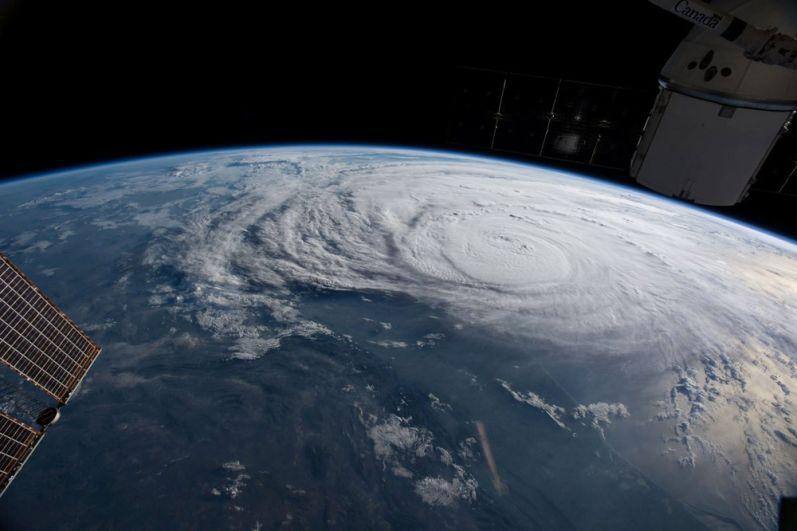 Движение урагана «Харви». Вид с МКС.