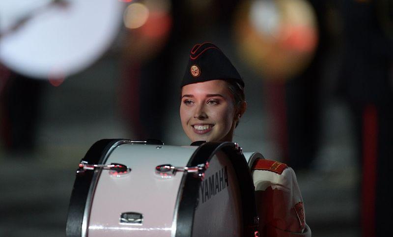 Музыкант из оркестра суворовцев Московского военно-музыкального училища им. генерал-лейтенанта В. М. Халилова.