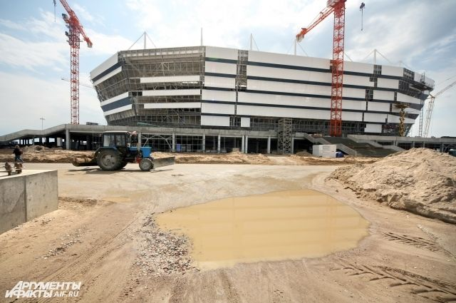 Первый тестовый матч на стадионе, который строят в Калининграде к чемпионату мира по футболу, пройдет в марте.