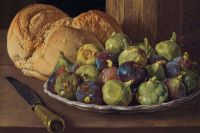 Луис Мелендес. Натюрморт с инжиром и хлебом.Луис Мелендес. Натюрморт с инжиром и хлебом.Луис Мелендес. Натюрморт с инжиром и хлебом.