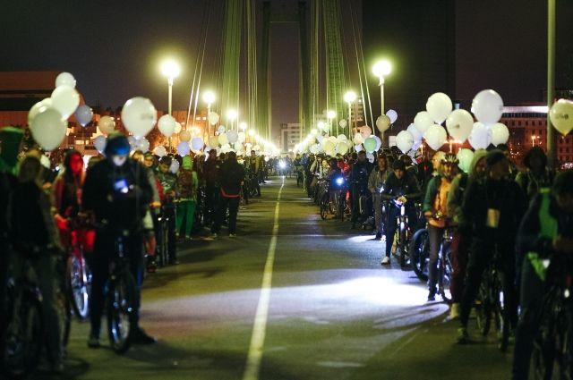 Красноярцы проехали более 15 км с 5 остановками.