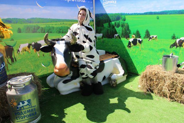 Молоко в крае производят не только вкусное и полезное, но красиво предлагают потребителю.