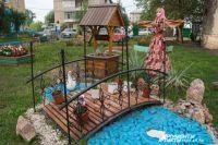Жители Красноярска тоже проявляют фантазию и благоустраивают дворы.