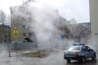 В Тюмени улицу Первомайскую залило кипятком