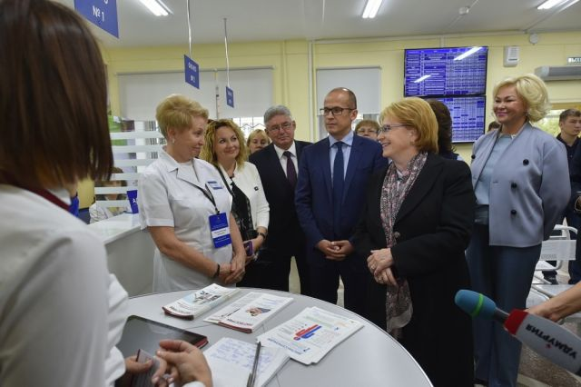 Федеральный министр посетила городскую больницу.