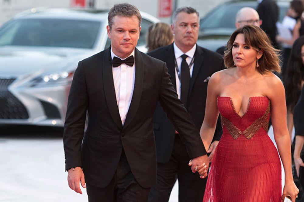 Актёр Мэтт Деймон с супругой Лучаной Барросо.