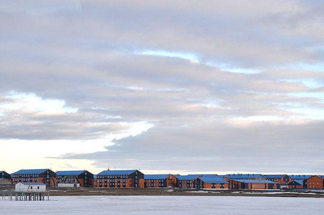 Вахтовый посёлок Сабетта в Ямало-Ненецком автономном округе.