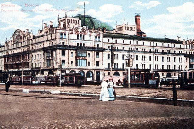 Гостиница «Метрополь» в Москве. Построена в стиле модерн в 1906 году по проекту английского архитектора В. Валькотта.