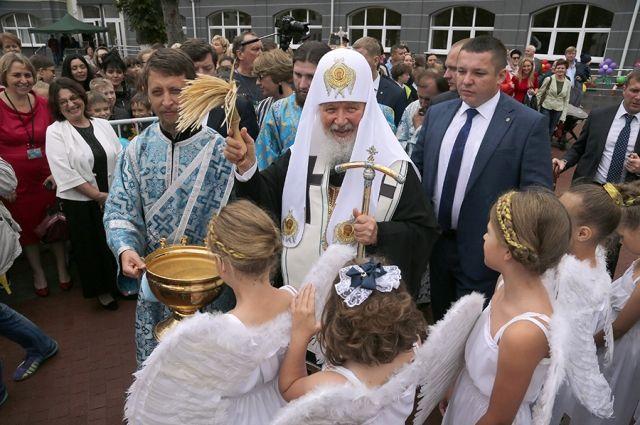 Патриарх Кирилл открыл в Калининграде новый корпус православной гимназии.
