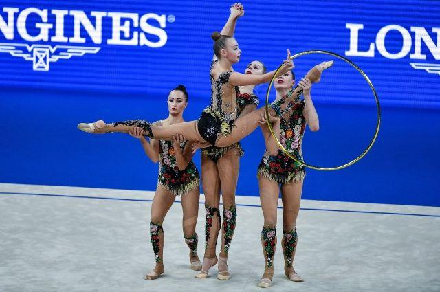 Сборная РФ завоевала золотоЧМ похудожественной гимнастике вмногоборье